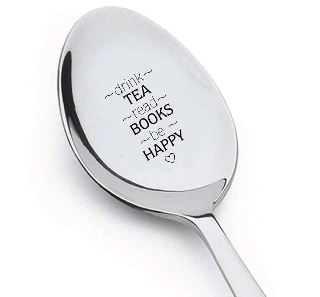 Gifts for Book Lovers That Aren't Books, Engraved Spoon Literary Gift