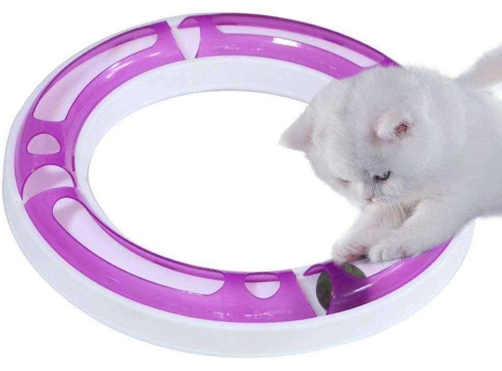 best cat gifts, CEESC Cat Track Ball Toy Set