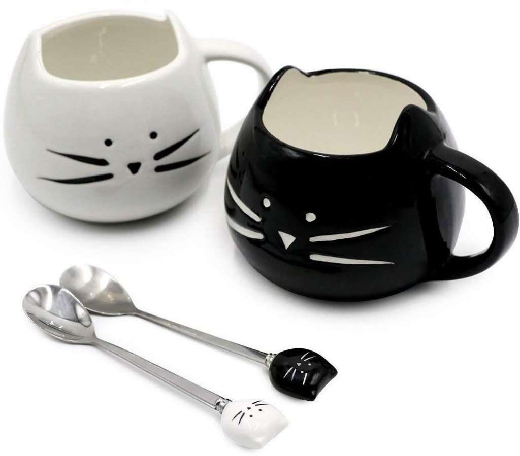best gifts for cat lovers, Koolkatkoo Cute Cat Mug Ceramic Coffee Mugs