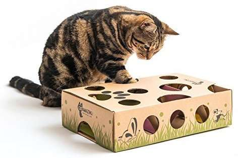 christmas cat gifts, Interactive Treat Maze & Puzzle Feeder for Cats