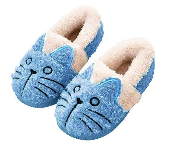 inexpensive gifts for cat lovers, Gara Tia Cute Cat Warm House Slippers Booties