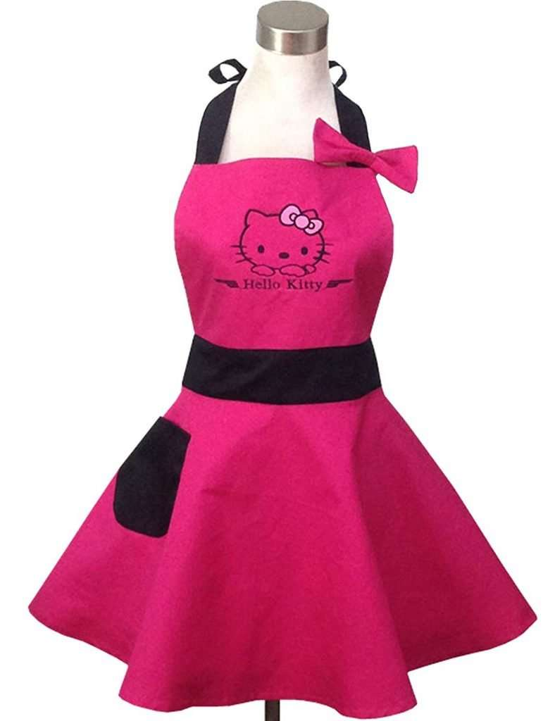 inexpensive gifts for cat lovers, Hello Kitty Retro Apron