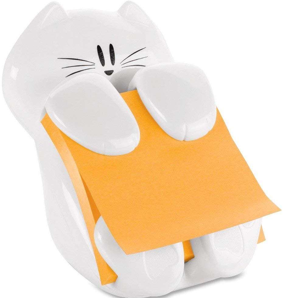 inexpensive gifts for cat lovers, Post-it Pop-Up Note Dispenser Cat Shape