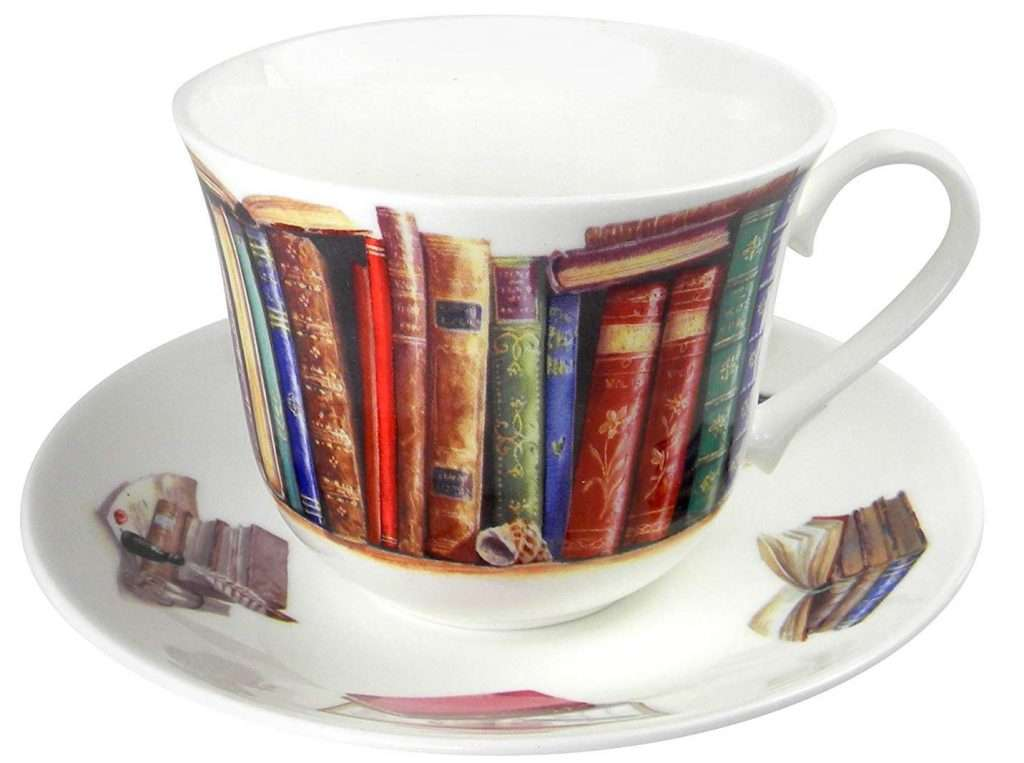 literary gift ideas, Creative Writing Book Lovers Breakfast Tea cup and Saucer Set
