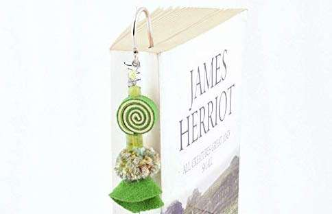 literary gift ideas, Set of 3 Metal Hook Bookmarks