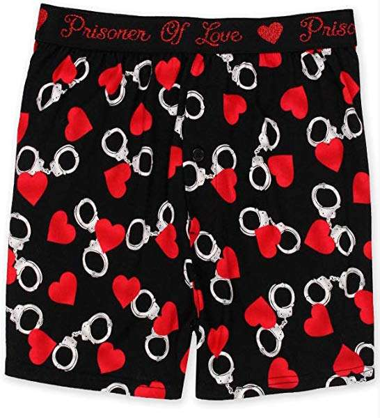 Briefly Staated Prisoner of Love Boxers, valentine's day gift for boyfriend