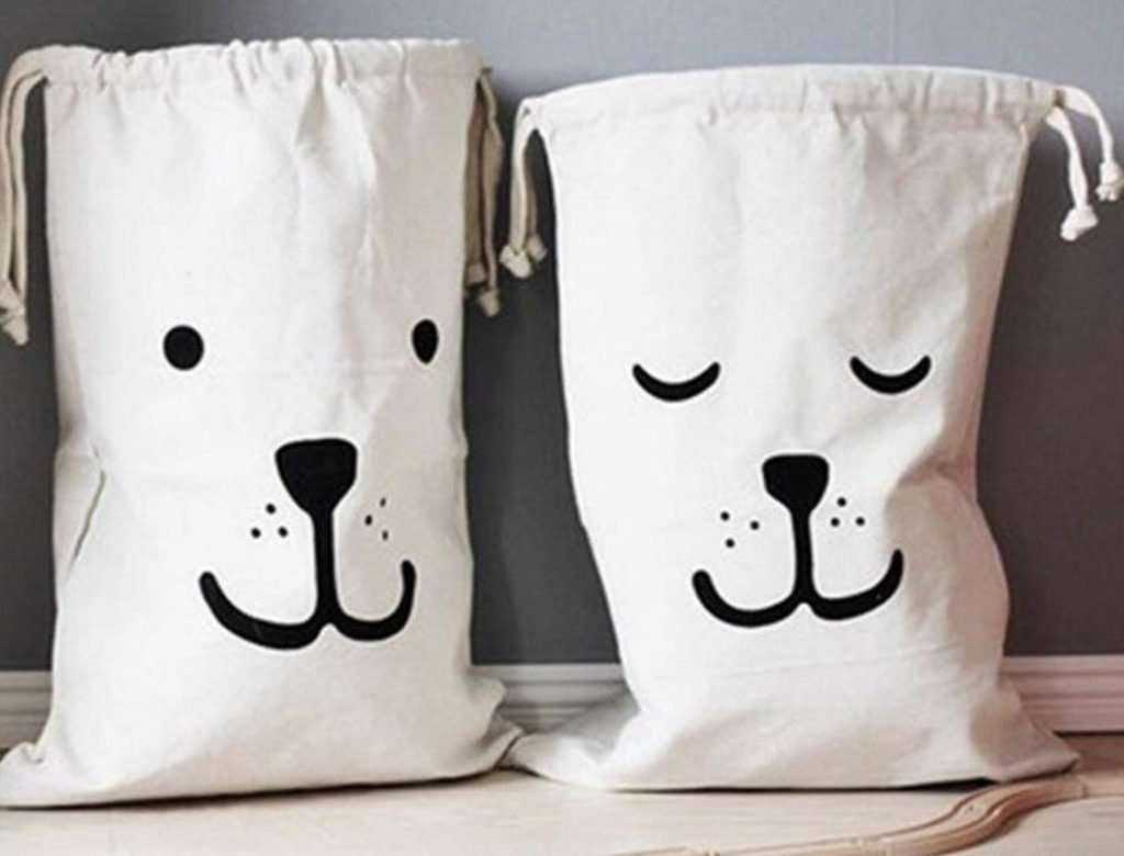 Cuteboom Canvas Laundry bag, gifts for dog lovers