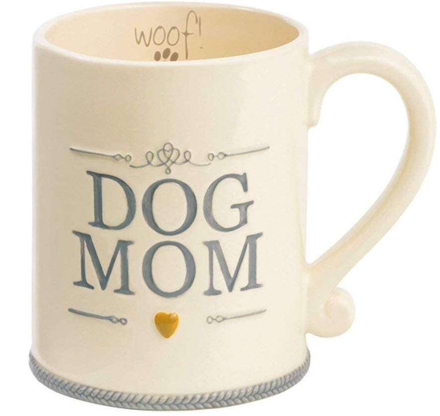 Dog Mom Ceramic Coffee Mug, unique gift for dog lovers