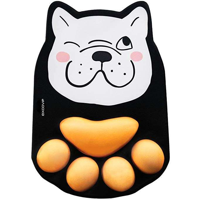 Dog Paw Computer Mouse Pad, unique gift for dog lovers