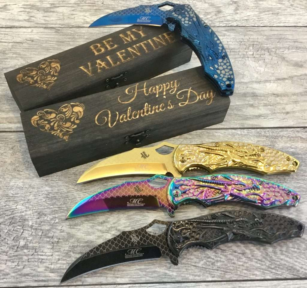 Dragon Design Cool Pocket Knife, valentines day gift for boyfriend