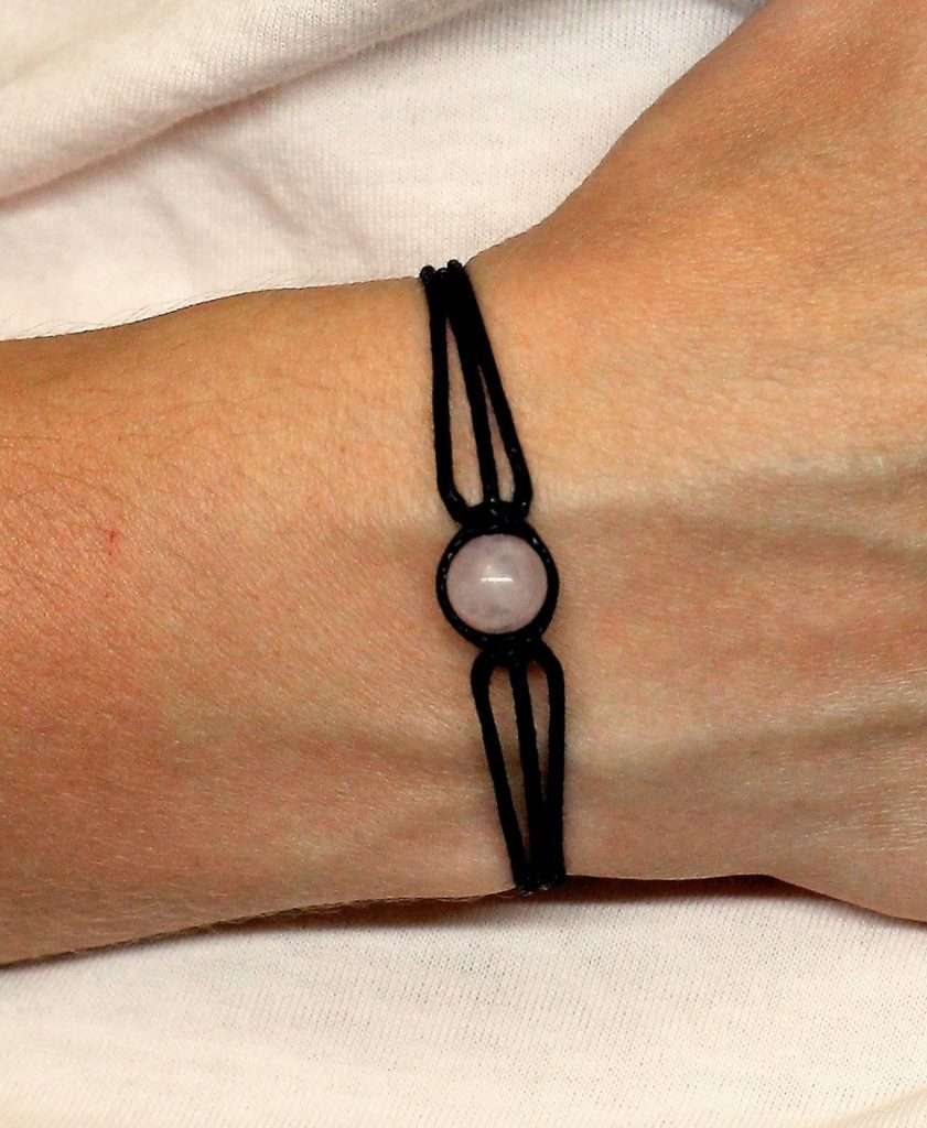 Handmade Rose quartz bracelet, valentines day gifts for her