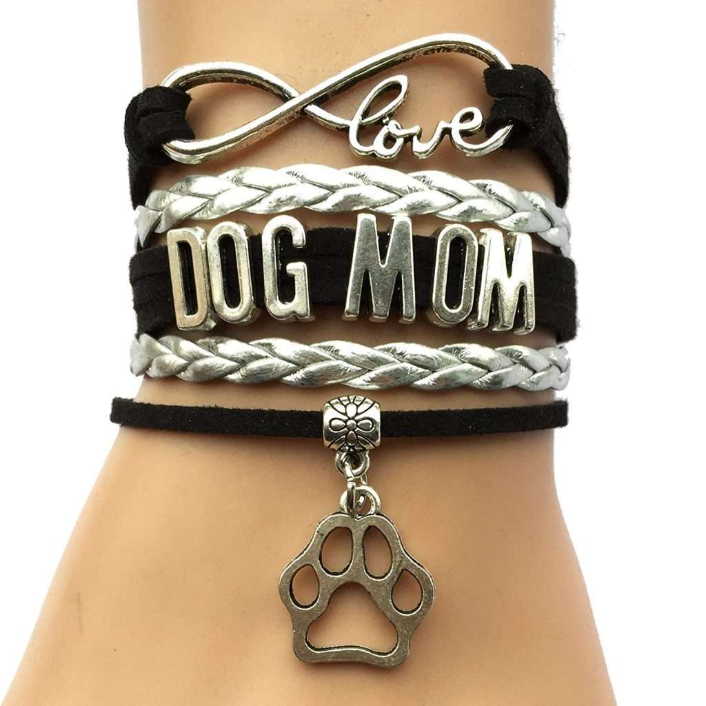 Love Dog Mom Paw Bracelet, gifts for dog lovers