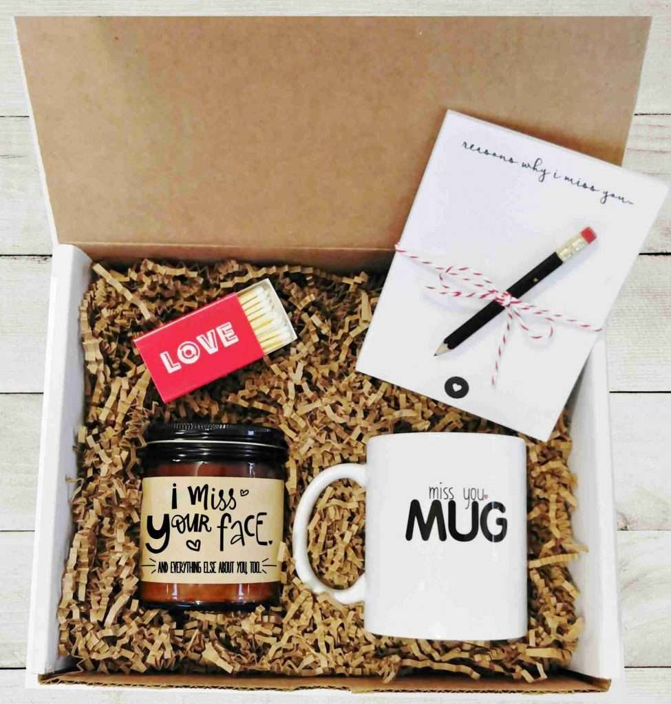 Miss You Gift Box, valentines day gift for husband
