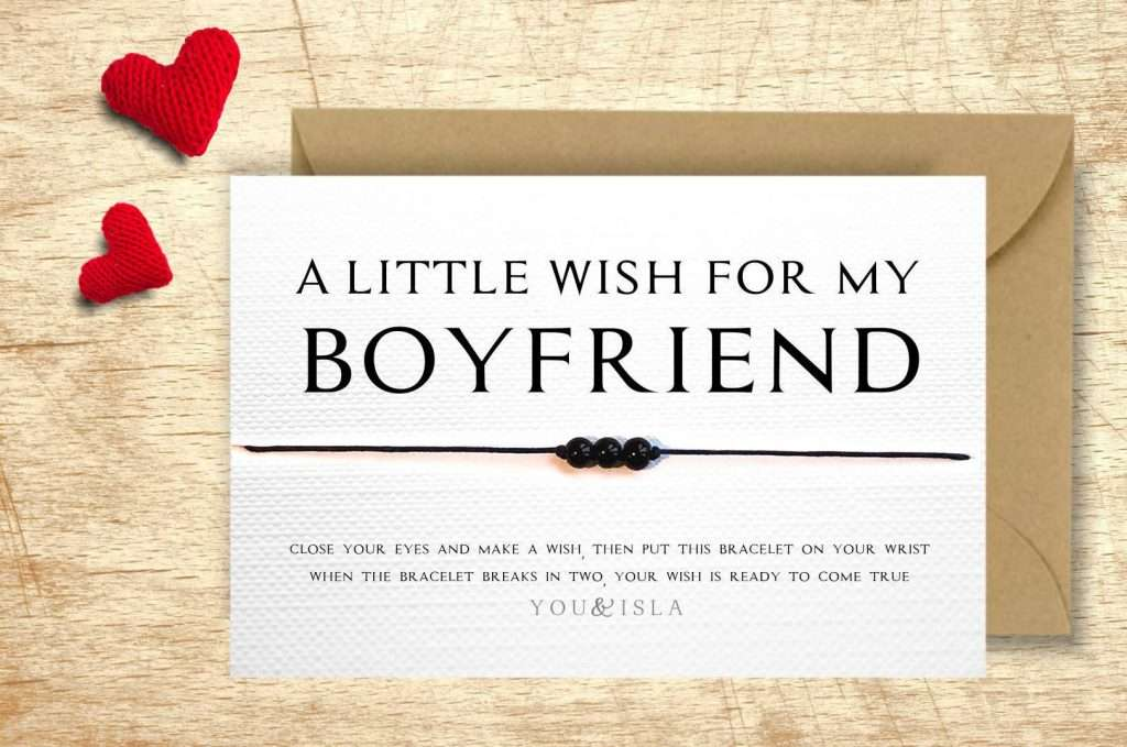 Wish Bracelet, valentines day gift for husband
