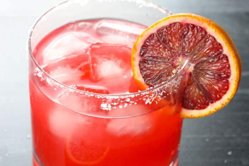 Blood Orange Margarita valentine's day drinks