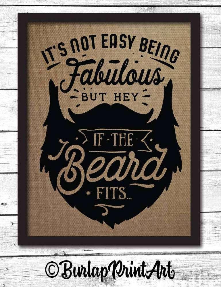 Decorative Beard Sign