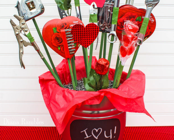 Man Tool Bouquet, DIY valentine's day gifts