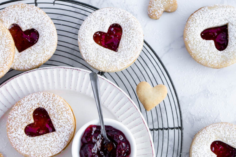 Strawberry Jam Cookies