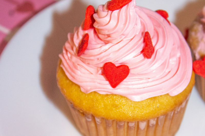 Valentine's Day Surprise Cupcakes recipe