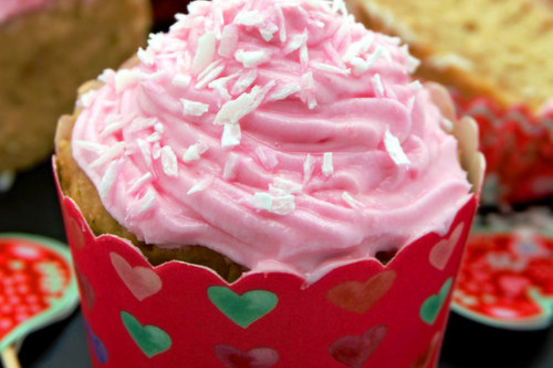 Vegan Vanilla Cupcakes with Perfectly Pink Beet-Dyed Coconut Cream Frosting