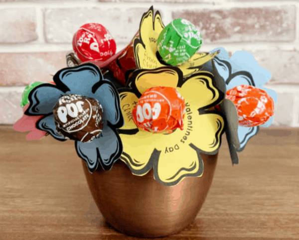 lollipop bouquet, valentine's day giy gifts