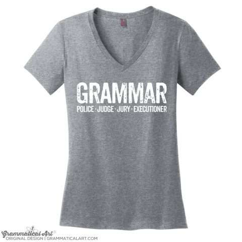 Police, Judge, Jury and Executioner Grammar Tee
