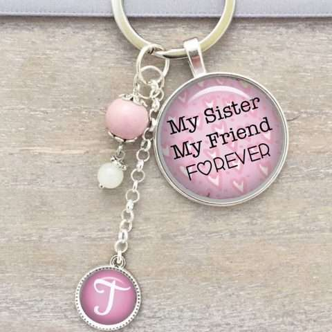 Forever Sisters Key Chain