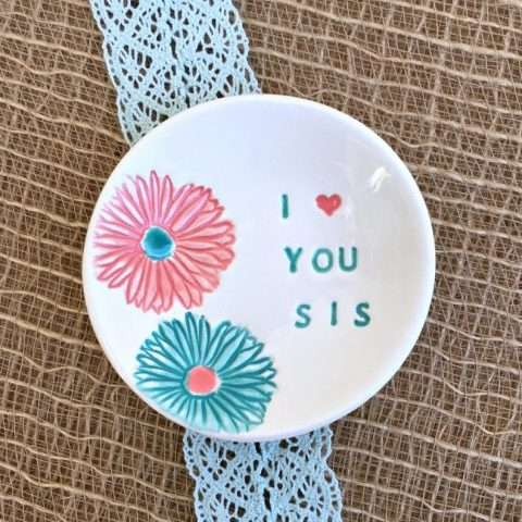 I Love You Sis Ring Dish