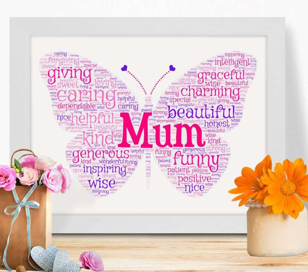 Butterfly Motif Mother's Day Poster
