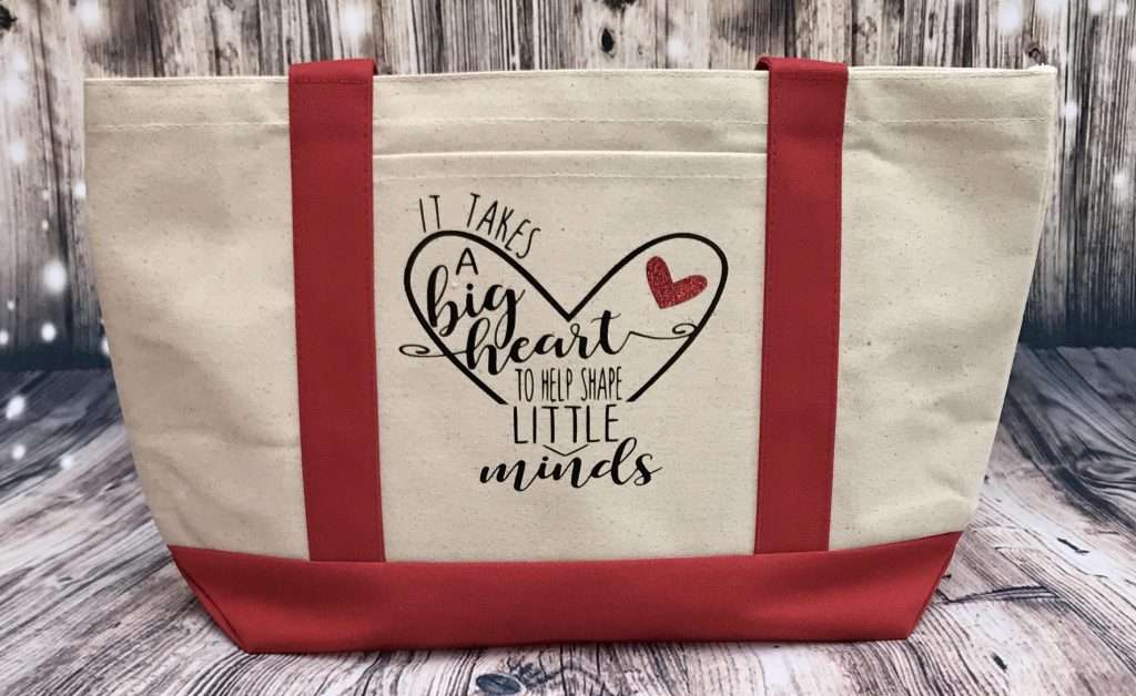 Cotton Canvas Tote, teacher appreciation day