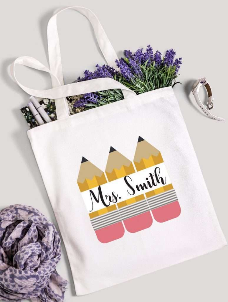 Cotton Eco-friendly Custom Tote for teacher appreciation day