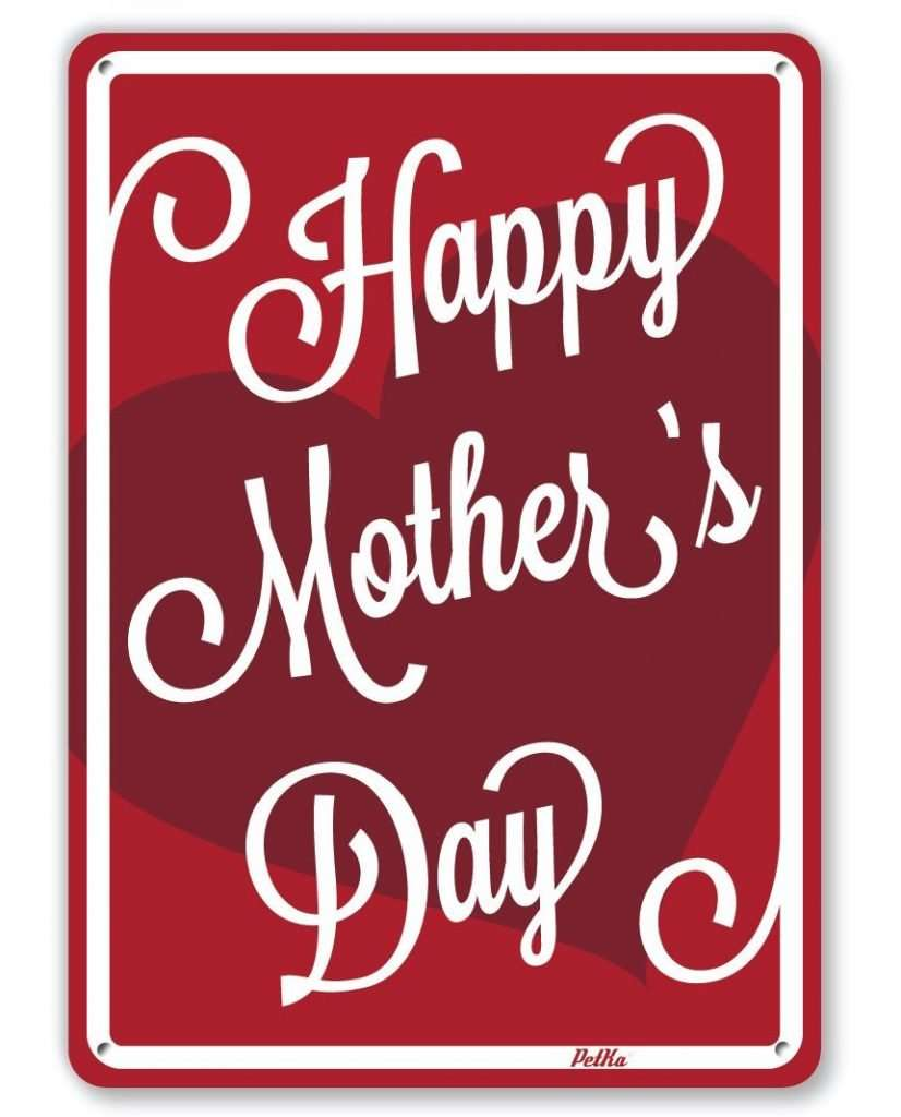 Happy Mother's Day Aluminum Sign