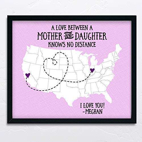 Long Distance Mother's Day Map