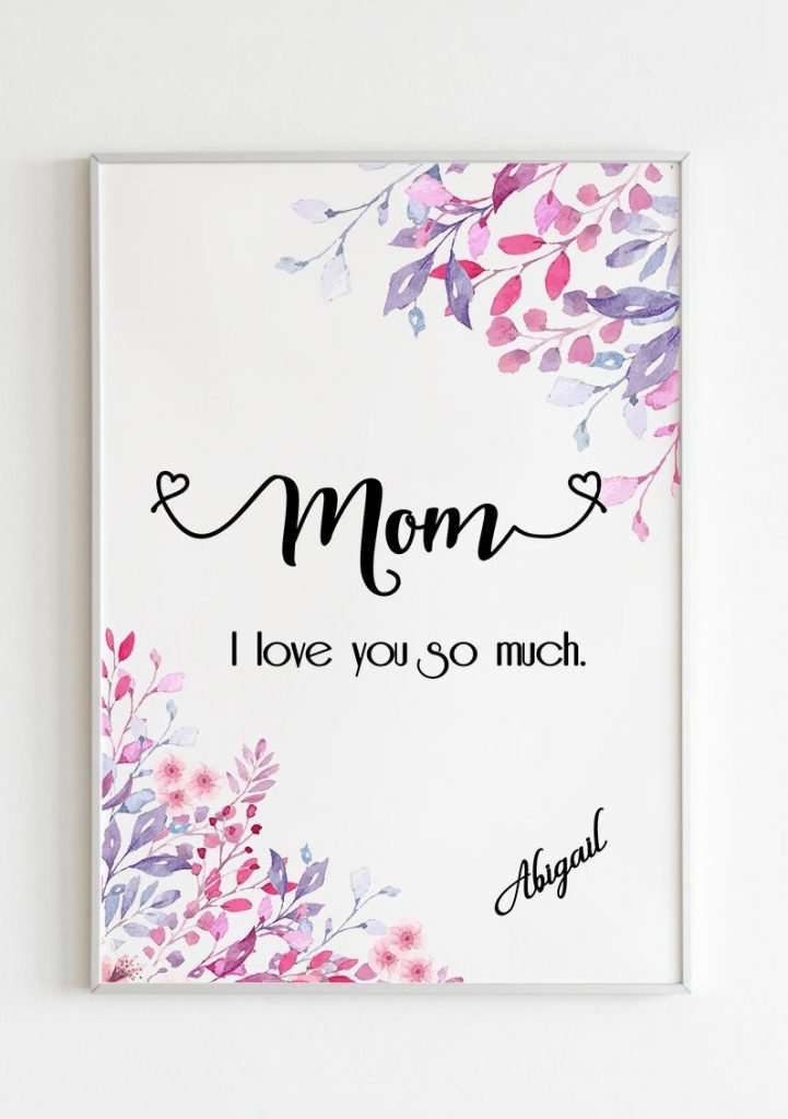 Mothers Day Personalised Print
