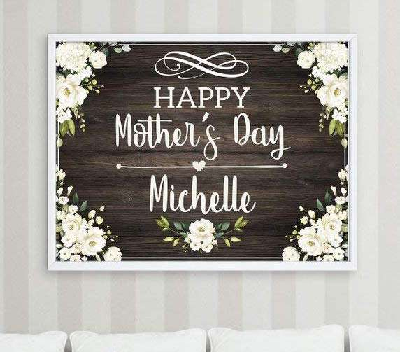 Rustic Personalized Mothers Day Poster