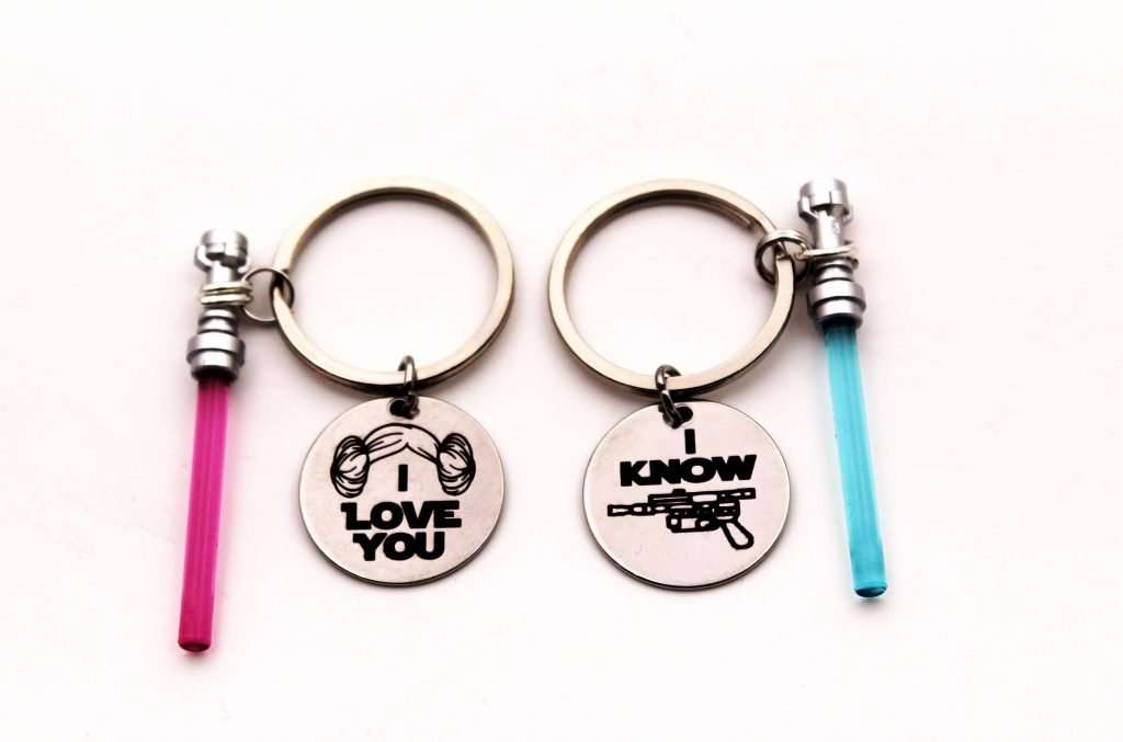 Star Wars Light Saber Couples Key Chain
