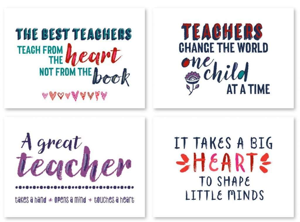 Teacher Printable Quotes Card Bundle