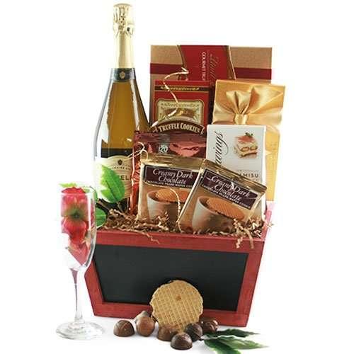 Champagne & Truffles Wine Gift Basket