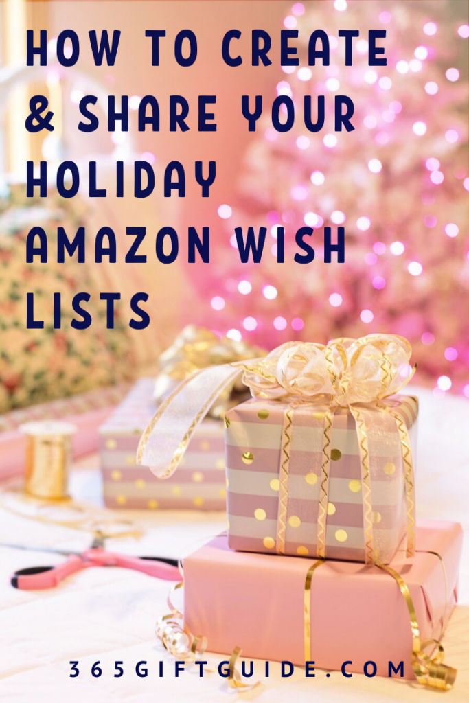 How to create and share your Amazon holiday wish lists