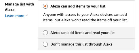 Manage Amazon Wish List With Alexa