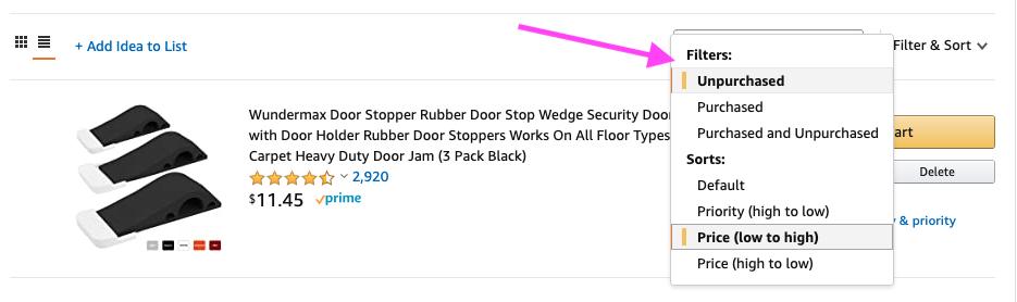 How to Organize Amazon Wish Lists