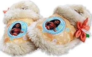 Moana Girl's Plush A-Line Slippers