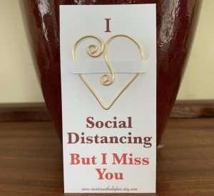 Social Distancing Gift Heart Bookmark