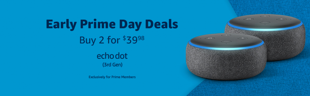 Early prime day deals on Echo Dot