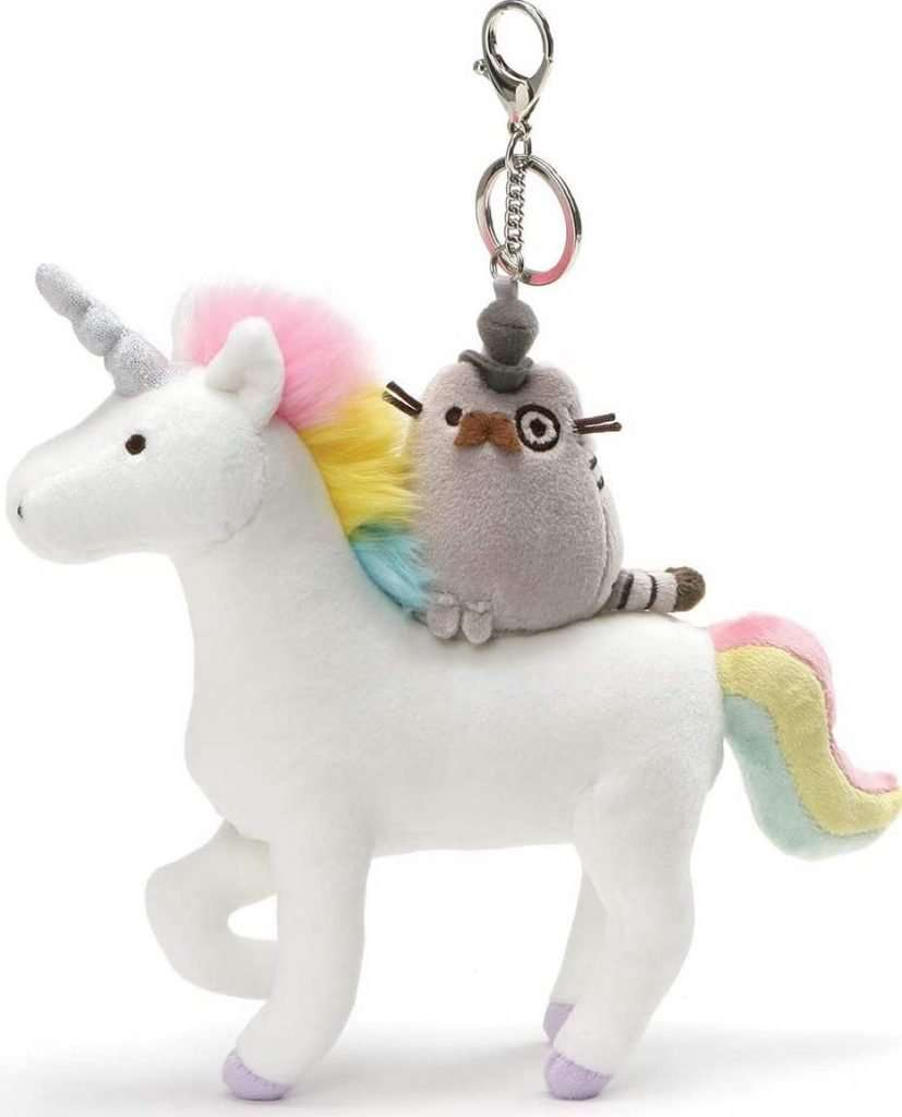 GUND Pusheen Fancy Unicorn & Kitty Plush Deluxe Keychain Clip