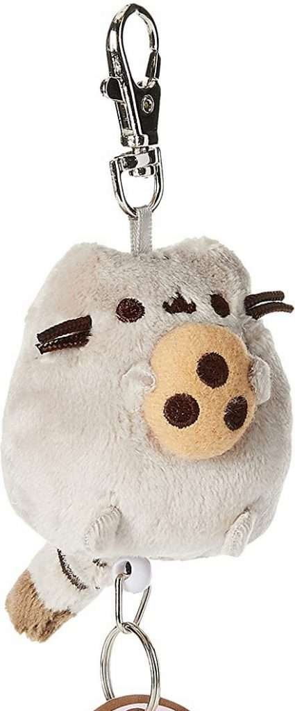 GUND Pusheen with Cookie Plush Retractable Keychain