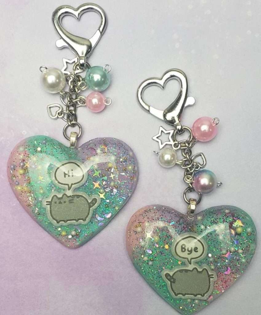 Kawaii Pastel Pusheen Cat Keychain