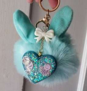 Pusheen Mermaid Keychain