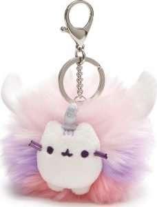 Pusheen Super Pusheenicorn Unicorn Cat Plush Pom Deluxe Keychain
