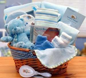 Baby Boy Gift Set Basket